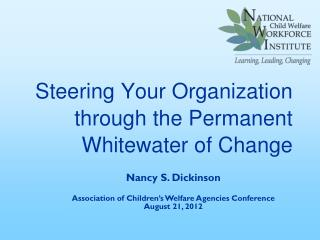 Steering Your Organization through the Permanent Whitewater of Change
