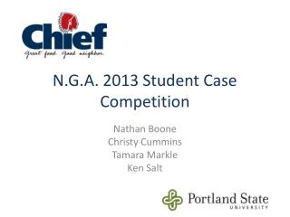 N.G.A. 2013 Student Case Competition