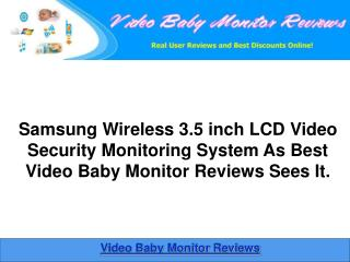 Samsung Wireless 3.5 inch Video Security Monitoring System