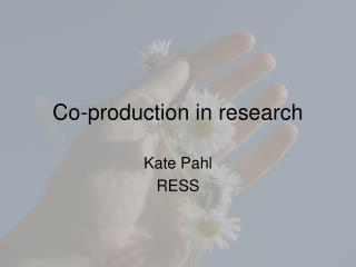 Co-production in research