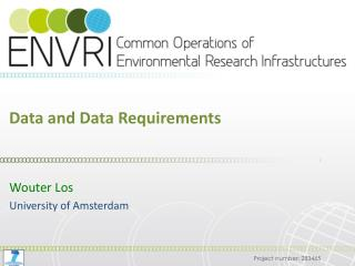 Data and Data Requirements