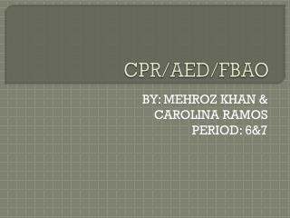 CPR/AED/FBAO