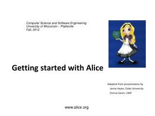 Getting started with Alice