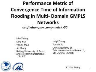Performance Metric of Convergence Time of Information Flooding in Multi- Domain GMPLS Networks