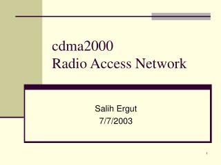 cdma2000  Radio Access Network