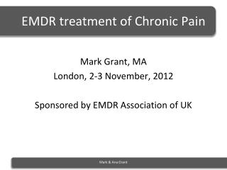 EMDR treatment of Chronic Pain