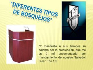 """""""DIFERENTES TIPOS  DE BOSQUEJOS"""""""