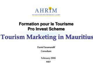 AHRIM Tourism Marketing in Mauritius