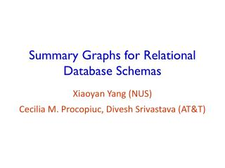 Summary Graphs for Relational Database Schemas