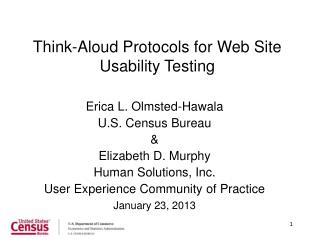 Think-Aloud  Protocols for Web Site Usability Testing