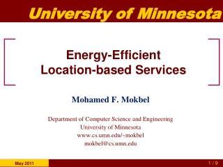 Energy-Efficient  Location-based Services