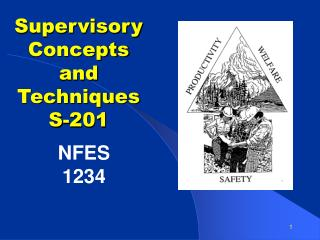 Supervisory Concepts and Techniques S-201