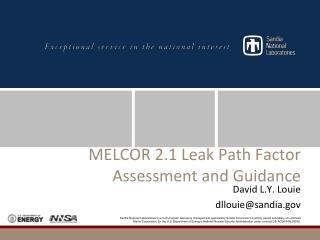 MELCOR 2.1 Leak Path Factor Assessment and Guidance