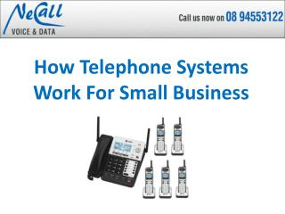 How Telephone Systems Work For Small Business