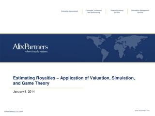 Estimating Royalties – Application of Valuation, Simulation, and Game Theory