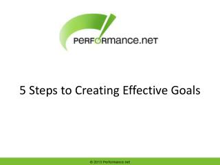 5 Steps to Creating Effective Goals