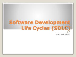 Software Development Life Cycles (SDLC)