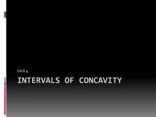 Intervals of Concavity