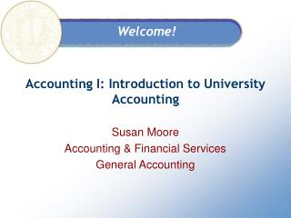 Accounting I: Introduction to University Accounting