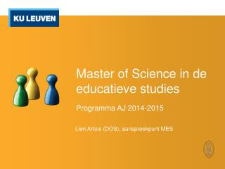 Master of  Science  in de educatieve studies
