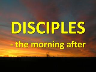 DISCIPLES - the morning after