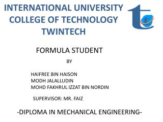 INTERNATIONAL UNIVERSITY COLLEGE OF TECHNOLOGY TWINTECH