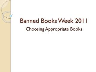 Banned Books Week 2011