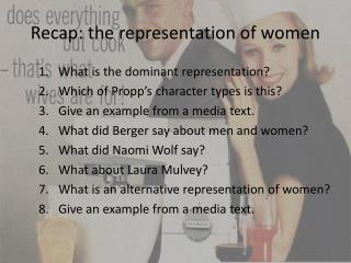 Recap: the representation of women