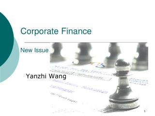 Corporate Finance New Issue