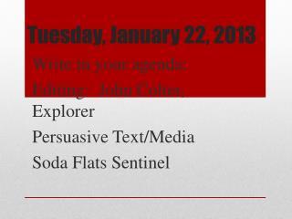 Tuesday, January 22, 2013