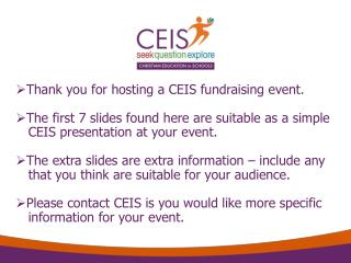 Thank you for hosting a CEIS fundraising event.