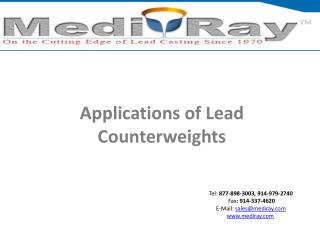 Applications of Lead Counterweights