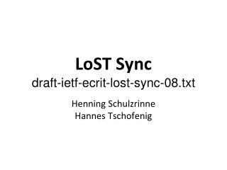 LoST Sync draft-ietf-ecrit-lost-sync-08.txt