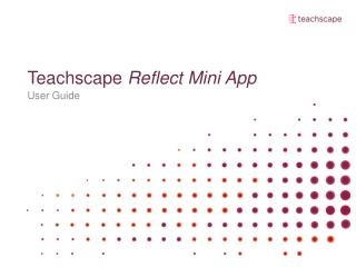 Teachscape Reflect Mini App