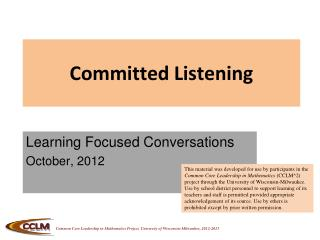 Committed Listening