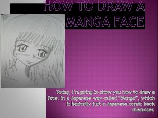 HOW TO DRAW A MANGA FACE