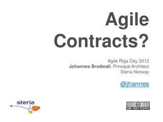 Agile  Contracts ?