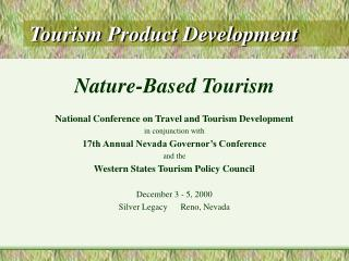 Tourism Product Development