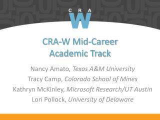 CRA-W Mid-Career Academic Track