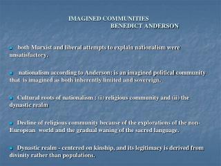 IMAGINED COMMUNITIES BENEDICT ANDERSON