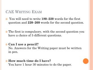 CAE Writing Exam