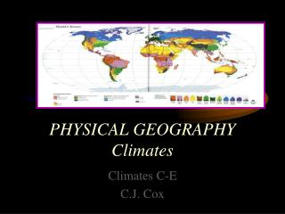PHYSICAL GEOGRAPHY Climates