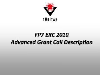 FP7 ERC 2010 Advanced Grant Call Description