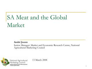 SA Meat and the Global Market