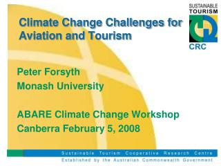 Climate change challenges for aviation and tourism