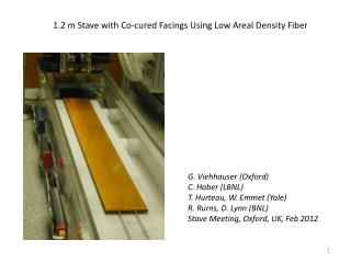 1.2 m Stave with Co-cured Facings Using Low Areal Density Fiber