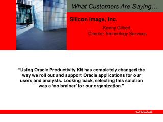 Oracle s  User Productivity Kit      May 15, 2008
