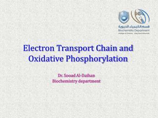 Electron Transport Chain and Oxidative Phosphorylation