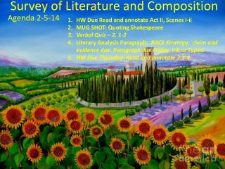 Survey of Literature and Composition