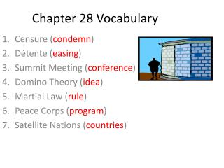Chapter 28  Vocabulary